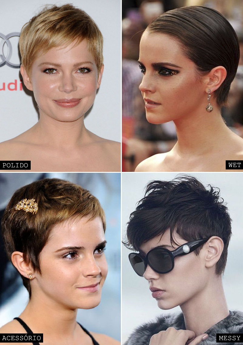 styling pixie hair corte curto